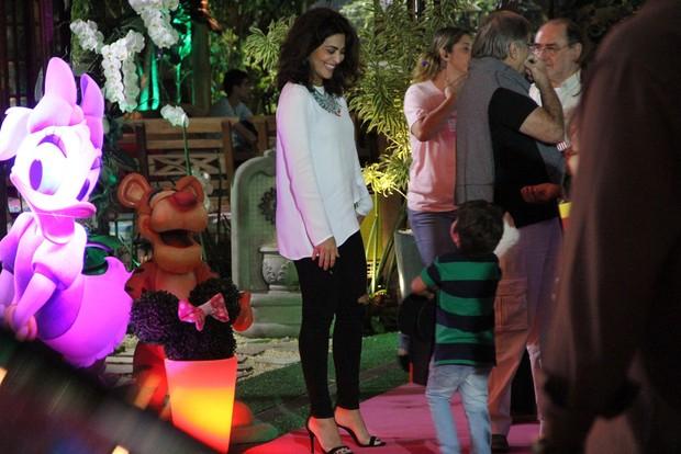 Juliana Paes no aniversário da Eva Filha do Luciano Huck e Angélica (Foto: Dilson Silva e Rodrigo dos Anjos / AgNews)