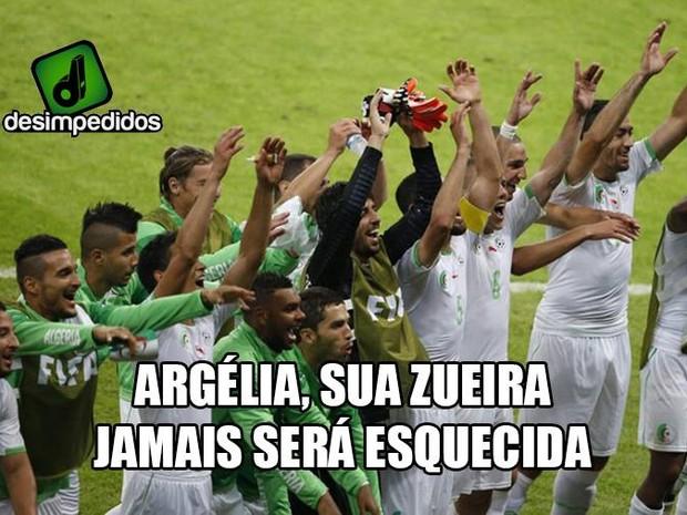 Argélia também foi uma das surpresas da Copa... (Foto: Reprodução/Facebook)