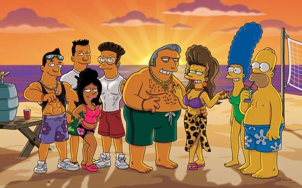 Os Simpsons - Marge e Homer passam fim de semana com a família de Tony Gordo na praia (Foto: Divulgação / Twentieth Century Fox)