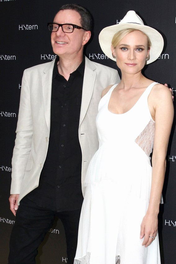 Roberto Stern e Diane Kruger (Foto: Vera Donato/Divulgação)