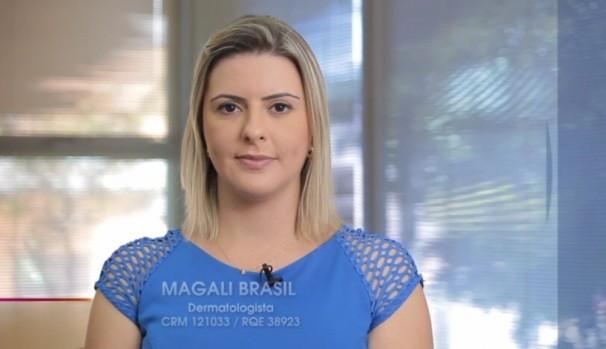 Dermatologista Magali Brasil (Foto: Reprodução / TV Diário)