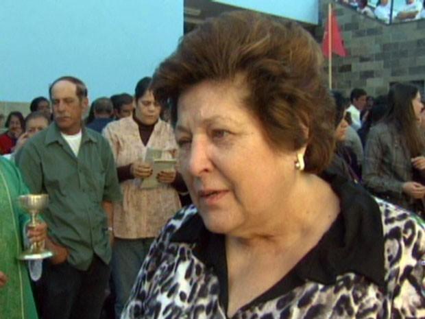 Cura de professora aposentada motivou beatificação de Nhá Chica. (Foto: Reprodução EPTV)