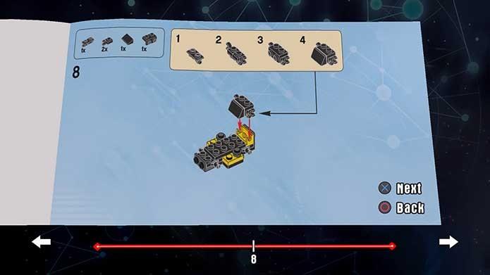 Há montagens ao longo de Lego Dimensions e o game tem instruções (Foto: Reprodução/Felipe Vinha)