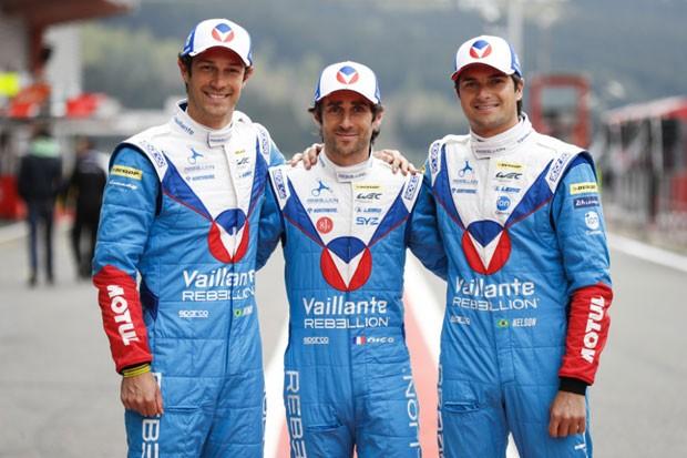 Bruno Senna, Julien Canal e Nelson Piquet Jr. (Foto: Divulgação)