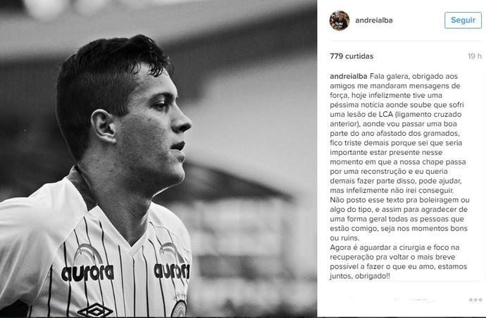 Andrei Alba instagram (Foto: reprodução)