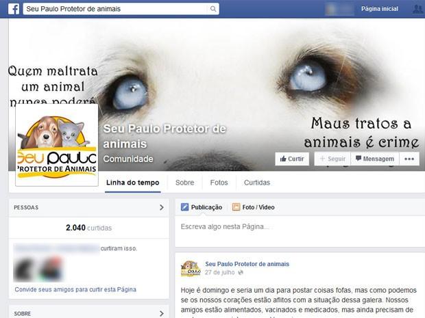 Página de 'Seu Paulo' no Facebook (Foto: Reprodução / Globo)