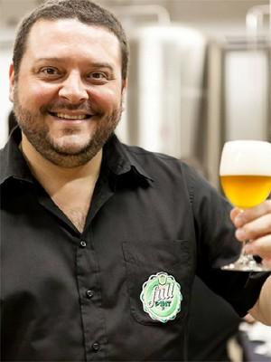 O blogueiro Fabrício Santos, do blog Full Pint, um dos mais acessados no Brasil (Foto: Rogério Volgarine)