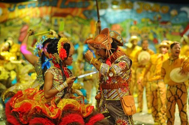 Segundo dia do Festival Clube de Quadrilhas é marcado pelas apresentações dos grupos (Foto: Fernando Brito/G1)