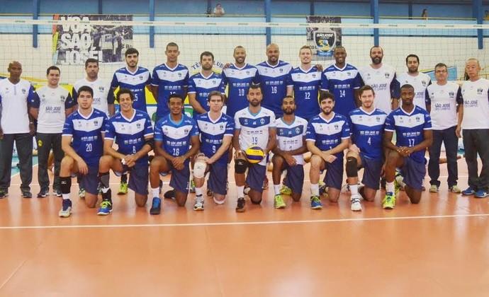 São José Vôlei equipe 2016 Superliga Tênis Clube (Foto: Tião Martins/PMSJC)