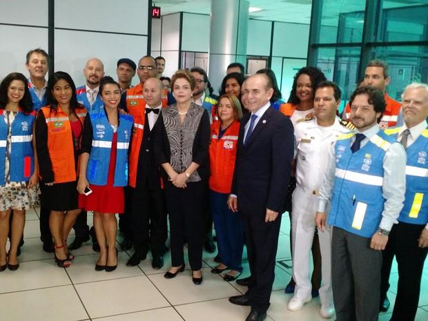 Dilma visita sala nacional de enfrentamento da dengue, zika e chikungunya (Foto: Laís Alegretti/G1)