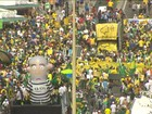 Manifestantes se reúnem no Rio em ato contra Dilma e a corrupção