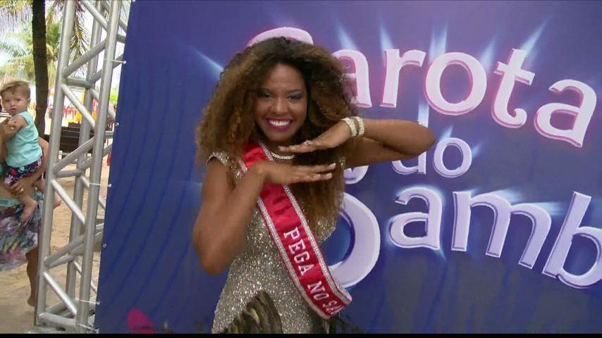 Uma das candidatas ao Garota do Samba (Foto: Divulgação/ TV Gazeta)