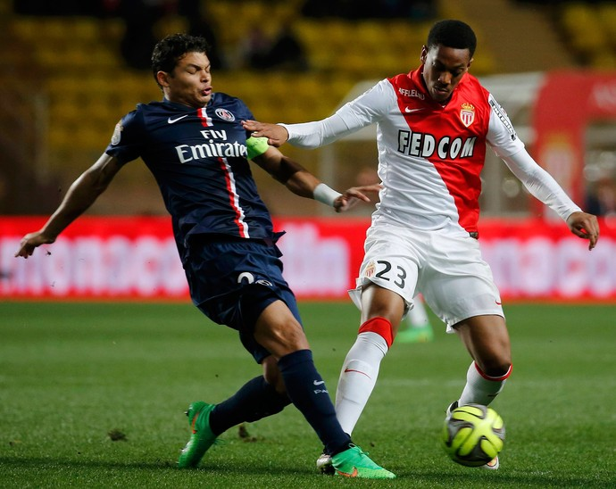 thiago silva martial monaco x paris saint-germain psg (Foto: Reuters)