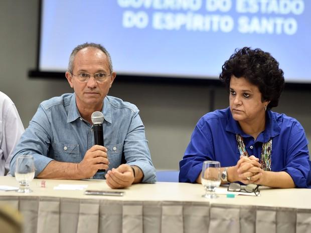 Reunião aconteceu em um hotel em Linhares, no Norte do Espírito Santo (Foto: Secom/ Governo do Estado)