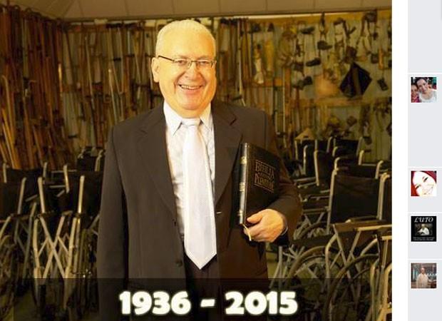 David Martins Miranda, fundador da Igreja Pentecostal Deus é Amor, morreu aos 79 anos (Foto: Reprodução/TfACEBOOK)