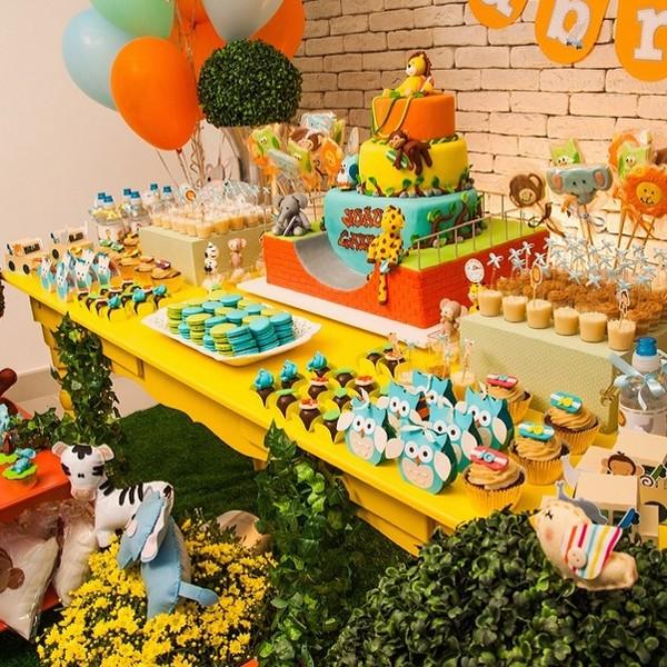 O colorido da festa do chá de bebê de João Gabriel (Foto: Reprodução/Instagram)