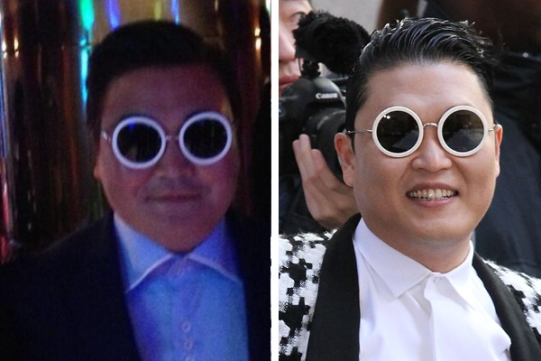 Denis Carre é sósia do Psy (Foto: Instagram / Getty Images)