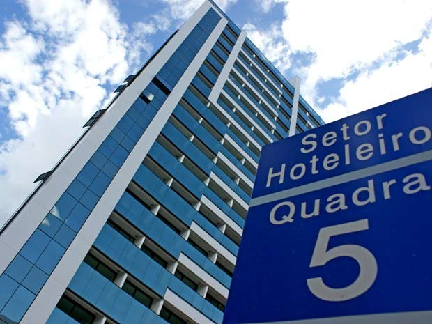 Setor Hoteleiro Norte, em Brasília (Foto: Vianey Bentes/TV Globo)