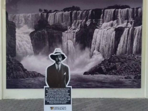 Imagem de Santos Dumont recepciona visitantes no Parque Nacional do Iguaçu (Foto: Cataratas do Iguaçu S. A. / Divulgação)