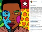 Naldo convida Romero Britto e artista faz arte de capa do CD do cantor