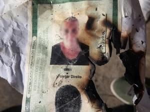 Após usados, documentos falsos eram destruídos (Foto: Delegacia de Defraudações e Falsificações de João Pessoa/Polícia Civil)