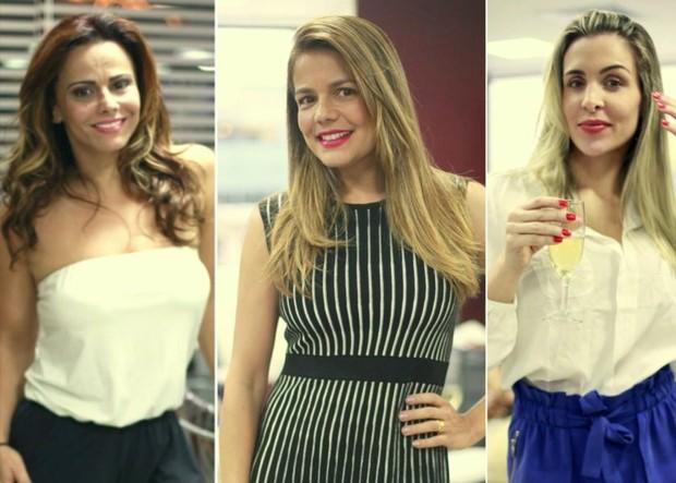 Viviane Araújo, Nívea Stelmann e Joana Machado (Foto: Isac Luz/EGO)