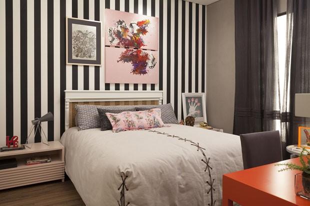 10 quartos cariocas e arrasadores Casa Vogue Ambientes ~ Quarto Rosa E Branco Para Jovem