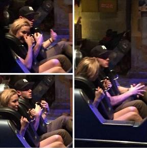 Kate Hudson e Nick Jonas no Magic Kingdom (Foto: Reprodução/Instagram)