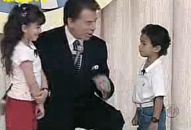 Garoto fã de Raça Negra e Silvio Santos (Foto: Reprodução)