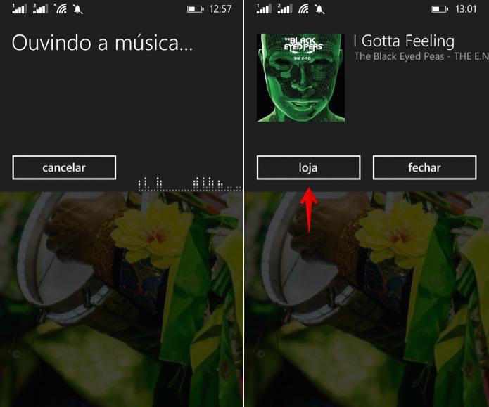 Informações sobre a música que está tocando (Foto: Reprodução/Helito Bijora)