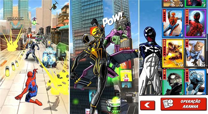 Homem-Aranha: Sem limites é um novo game runner do herói da Marvel (Foto: Divulgação/Windows Phone Store)