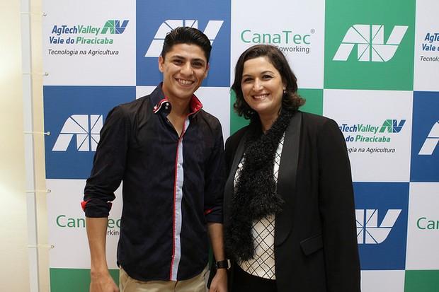 Bruno Araújo, da Dehnn Coaching, e Adriana Lúcia (Foto: Divulgação/CanaTec Coworking)