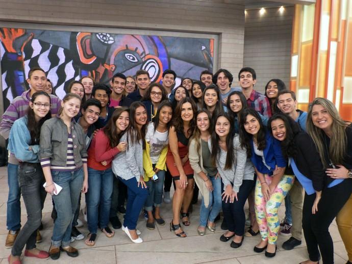 A juventude bateu ponto no 'Encontro' desta quarta-feira, 27/7 (Foto: Vinícius Cunha/Gshow)