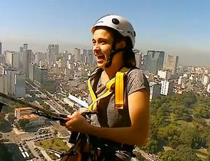 Fernanda Gentil rapel Central do Brasil (Foto: Reprodução SporTV)