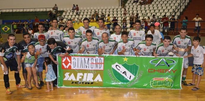 Time do Independente (Foto: Tércio Neto/GloboEsporte.com/rr)