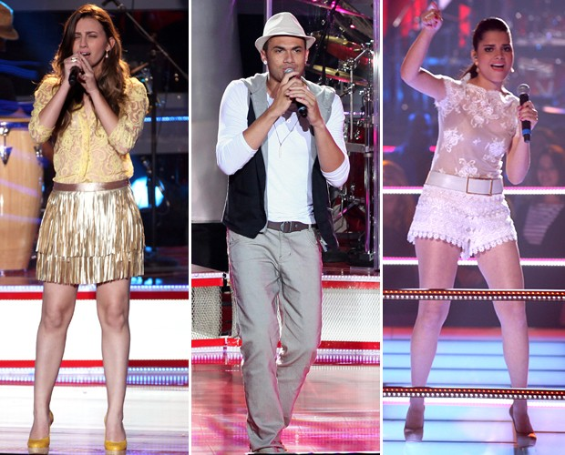 Ju Gomes, Diego Azevedo e Ana Rafaela fazem música juntos (Foto: The Voice Brasil/TV Globo)