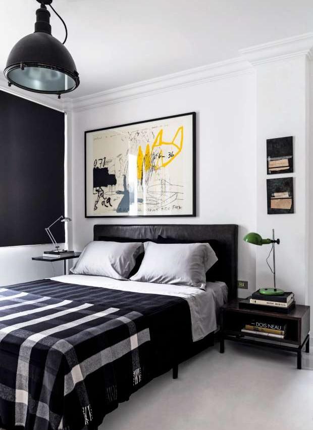 Decoração de apartamento em preto e branco - Casa e Jardim
