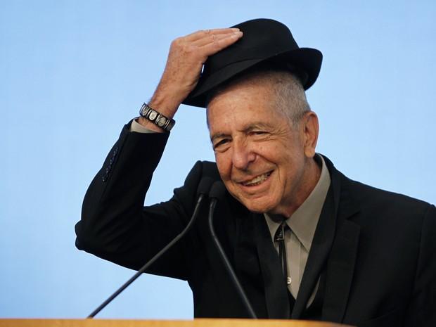 Leonard Cohen recebe prêmio Song Lyrics em Boston (EUA), em 2012 (Foto: REUTERS/Jessica Rinaldi)