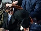 Katy Perry faz carinho em John Mayer durante a posse de Obama