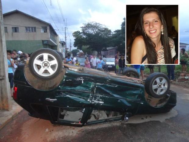 Jovem morreu após carro bater na lateral de outro. (Foto: Fotos: Minas Acontece)