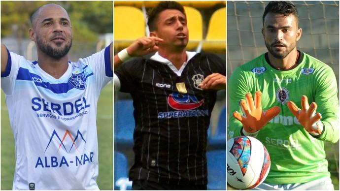 Hércules (Vitória), Santiago (Rio Branco) e Felipe (Desportiva Ferroviária) (Foto: GloboEsporte.com)