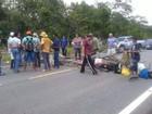 Agricultores fecham trecho da BR-174 em RR durante protesto