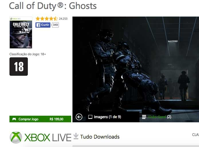 Call of Duty Ghosts na Xbox Live (Foto: Reprodução/Felipe Vinha)