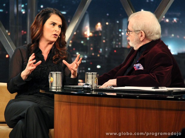 Danielle Dahoui participa do Programa do Jô desta terça-feira (Foto: TV Globo/Programa do Jô)