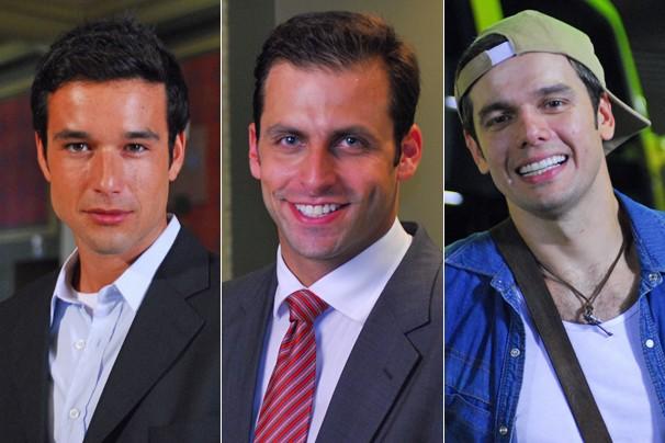 Sérgio Marrone, Henri Castelli e Otaviano Costa também estão no elenco de Caras e Bocas (Foto: Zé Paulo Cardeal/Globo)