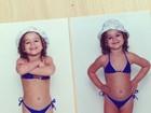 Bruna Marquezine relembra infância  com foto em rede social