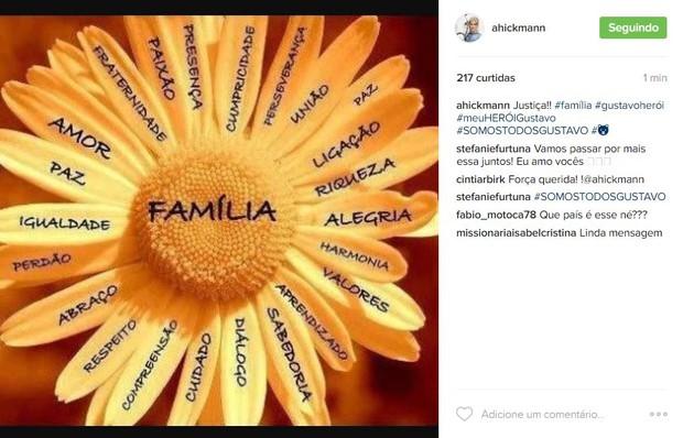 Ana Hickmann pede apoio ao cunhado (Foto: Reprodução / Instagram)