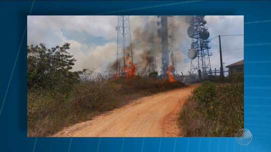Incêndio destruiu oito hectares de vegetação na Serra da Jiboia, na BA