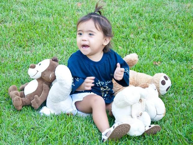 Júnia motivou família a criar site Life Down (Foto: Arquivo Pessoal/Juliana Gomes)