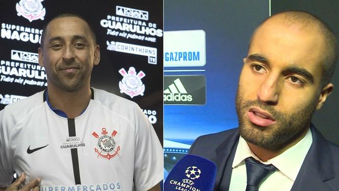 Serginho, do vôlei, e Lucas Moura, do PSG (Foto: Arte SporTV)